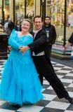 Para taniec w arkadzie Obrazy Royalty Free