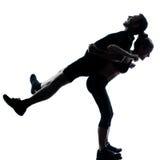 para target2202_0_ sprawności fizycznej mężczyzna jeden kobiety trening zdjęcie stock