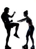 para target2320_0_ sprawności fizycznej mężczyzna jeden kobiety trening Fotografia Stock