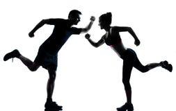 para target2431_0_ sprawności fizycznej mężczyzna jeden kobiety trening Zdjęcia Royalty Free
