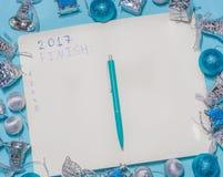 Para terminar a lista antes do ano novo Imagens de Stock