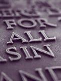 Para todo el pecado Fotografía de archivo libre de regalías