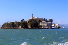 Para trás da ilha de Alcatraz fotografia de stock
