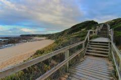 Para trás da praia em Victoria Fotografia de Stock Royalty Free