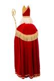 Para trás de Sinterklaas no fundo branco Imagens de Stock Royalty Free