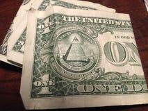 Para trás de um dólar Bill Foto de Stock