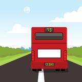 Para trás de um ônibus vermelho Ilustração do Vetor
