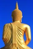 Para trás de uma Buda dourada grande Foto de Stock Royalty Free