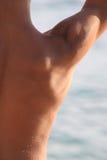Para trás do adolescente muscular Foto de Stock Royalty Free