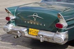Para trás do carro cubano clássico Fotografia de Stock Royalty Free