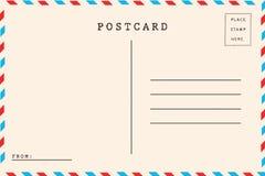 Para trás do correio aéreo ilustração stock