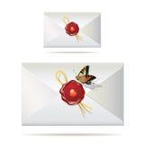 Para trás do envelope Imagem de Stock