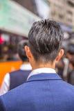 Para trás do homem asiático Fotos de Stock