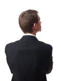 Para trás do homem de negócios Imagens de Stock Royalty Free