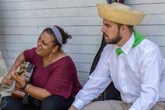 Para tradycyjni piosenkarzi od Puerto Rico Zdjęcia Royalty Free