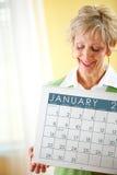Para: Trzymać Stycznia 2017 kalendarz Obrazy Royalty Free