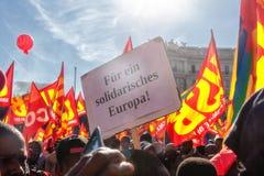 Para uma Europa da solidariedade Fotos de Stock Royalty Free