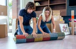 Para unrolling dywan obraz stock