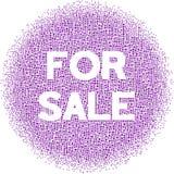 Para a venda! Imagem de Stock