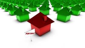 Para a venda - vermelho com verde ilustração royalty free
