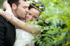 para właśnie poślubiająca Zdjęcie Stock