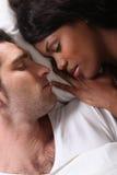 Para w łóżku Zdjęcie Royalty Free