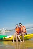 Para w łodzi fotografia stock