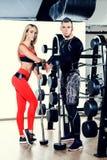 Para w gym obrazy royalty free
