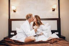 Para w hotelu zdjęcie stock