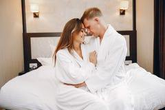 Para w hotelu obraz stock