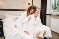 Para w hotelu obrazy stock