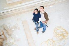 Para w ich nowym domu zdjęcie stock