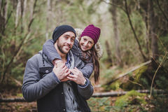 Para w jesień parku Obraz Stock