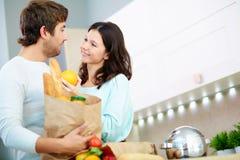 Para w kuchni obraz royalty free