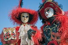 Para w masce na Wenecja karnawale Obrazy Stock