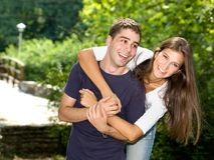 Para w miłości Zdjęcia Stock