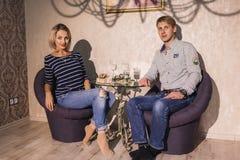 Para w miłości salowej Zdjęcie Royalty Free