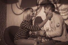 Para w miłości salowej Obrazy Stock