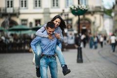 Para w mieście zdjęcia stock