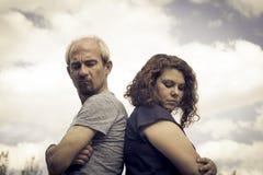 Para w negatywnej postawie gniewnej Obraz Royalty Free