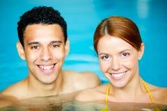 Para w pływackim basenie Obraz Royalty Free