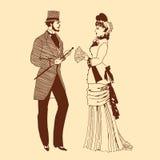 Para w retro stylu Zdjęcia Royalty Free