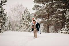 Para w sosnowym lesie Zdjęcia Stock