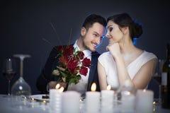 Para w walentynki ` s dniu obrazy stock