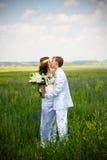 para właśnie poślubiał Zdjęcia Stock