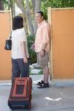 Para Wchodzić do kurort Zdjęcia Royalty Free