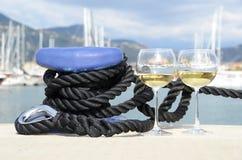 Para wineglasses Zdjęcia Stock