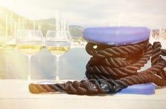 Para wineglasses Obrazy Royalty Free