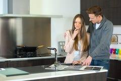 Para wybiera kuchennego projekt Obrazy Royalty Free