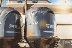 Para yamaha outboard silniki 250 Obrazy Royalty Free